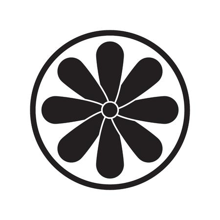 Fan icon on white background. Vector illustration. Standard-Bild - 123536069