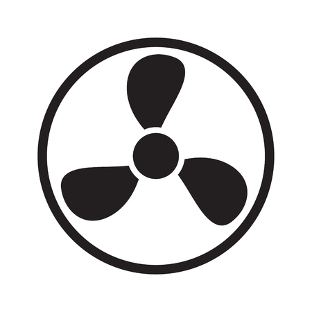Fan-Symbol auf weißem Hintergrund. Vektor-Illustration.