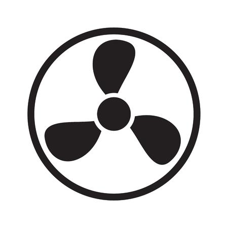 Ikona wentylatora na białym tle. Ilustracja wektorowa.