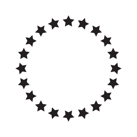 Stars in circle icon vector illustration graphic design Standard-Bild - 123536085