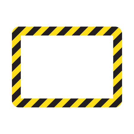 Warning stripes, yellow and black color. Construction warning border Standard-Bild - 123536087