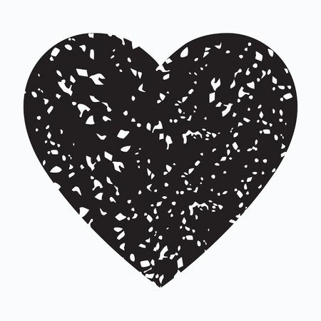 Grunge black heart vector isolated icon Standard-Bild - 123536088