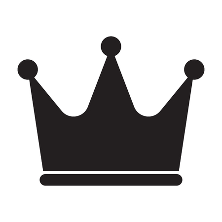 Crown icon symbol vector isolated Standard-Bild - 123536256