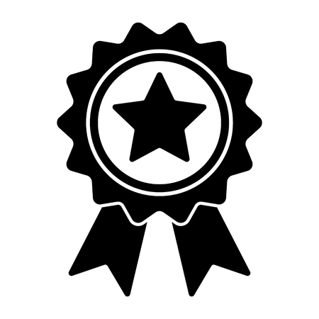Award icon with star in trendy flat design, winner medal vector icon Standard-Bild - 123536257