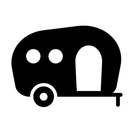 Camping trailer icon vector isolated Standard-Bild - 123536260