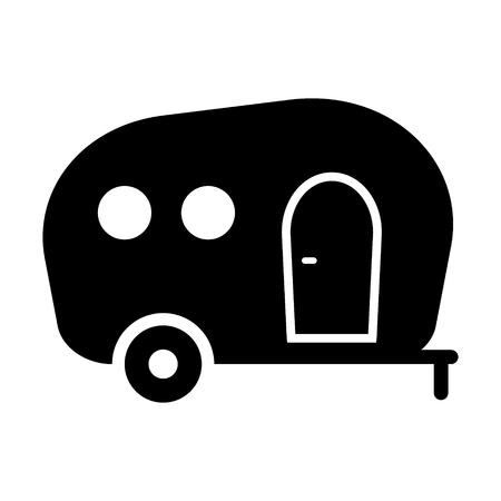 Camping trailer icon vector isolated Standard-Bild - 123536261