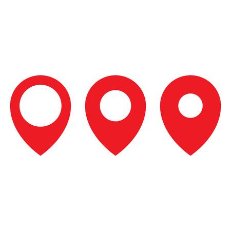 Red maps pin. Location map icon. Location pin. Pin icon vector. Standard-Bild - 123536264