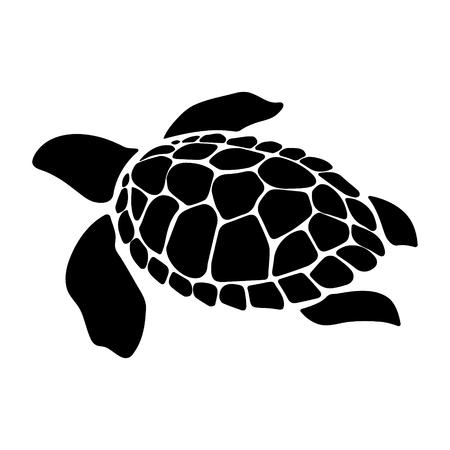 Ilustración de animales marinos de tortuga. Tortuga marina. Ilustración simple del icono de vector de animal marino de tortuga para diseño web