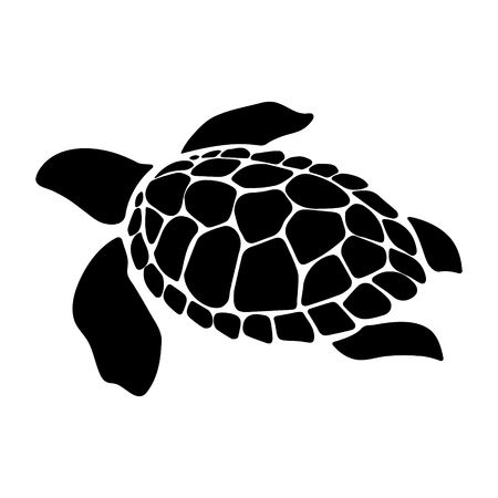 Turtle marine animal illustration. Sea turtle. Simple illustration of turtle marine animal vector icon for web design