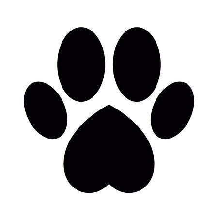 Pootafdruk van hond of kat
