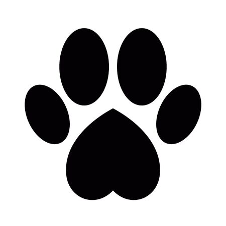 Dog or cat paw print Illustration