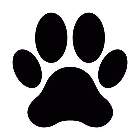Pfotenabdruck von Hund oder Katze Vektorgrafik