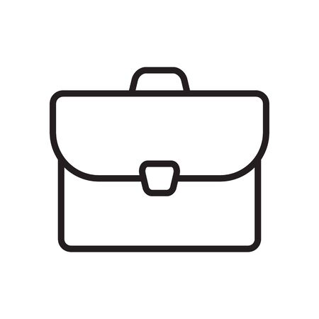 Briefcase sign icon in flat style. Suitcase vector illustration on white isolated background. Baggage business concept.