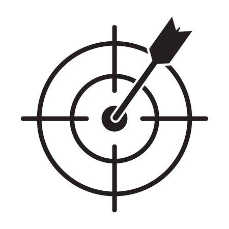 Target Icon marketing target graphic design single icon vector illustration Banco de Imagens - 128852977