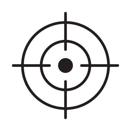 Icona di messa a fuoco, simbolo del vettore di linea