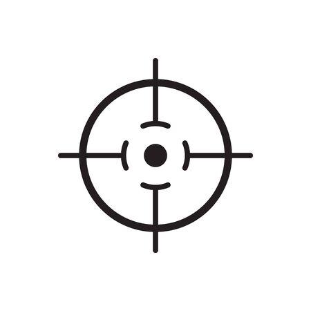 Focus icon, line vector symbol