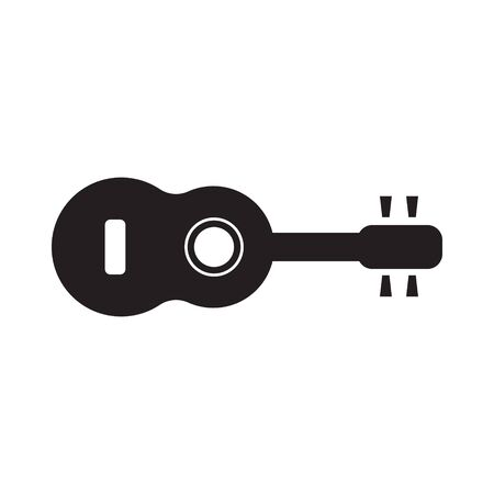 Guitar icon vector, Acoustic musical instrument sign Isolated on white background. Illustration