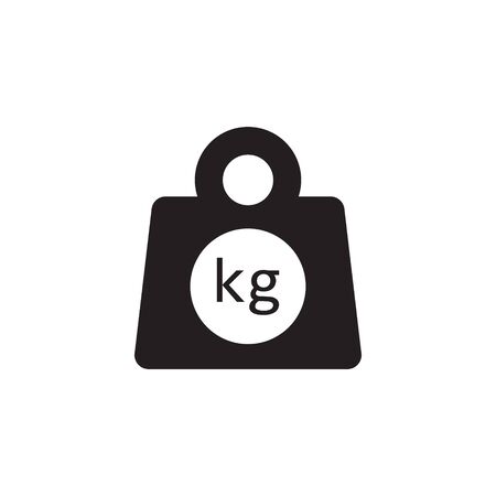 Weight kilogram icon vector isolated Vector Illustration