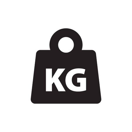 Weight kilogram icon vector isolated Stock Vector - 128854107