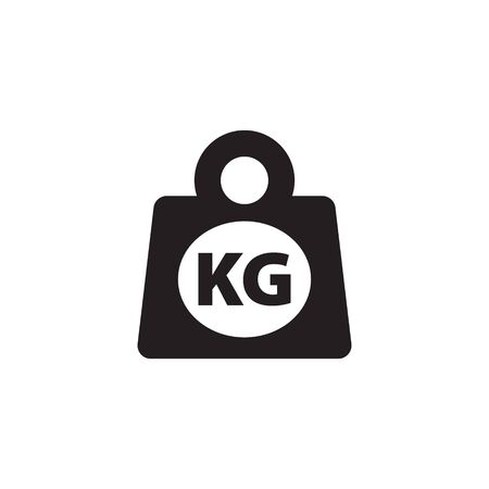 Weight kilogram icon vector isolated Illustration