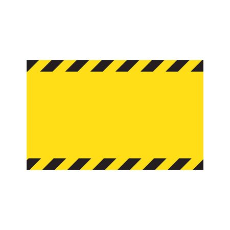 Warning striped background, warning to be careful, potential danger, yellow & black stripes on the diagonal, vector template sign border yellow and black color. Construction warning border.
