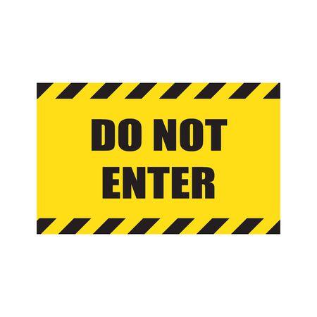 Geben Sie kein Zeichen ein. Stop-Schilder geben keine Gefahr Warnung Aufmerksamkeit Verkehr Straße Stopp Vektor-Symbol Symbol Vorsicht keine gehenden Hand Hände kein Einlass Handabdruck Notverbot verbieten.