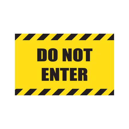 Do not enter sign. Stop signs do not enter danger warning attention traffic road stop vector icon symbool Beware no walking hand hands no admittance handprint emergency prohibition forbid. Illustration