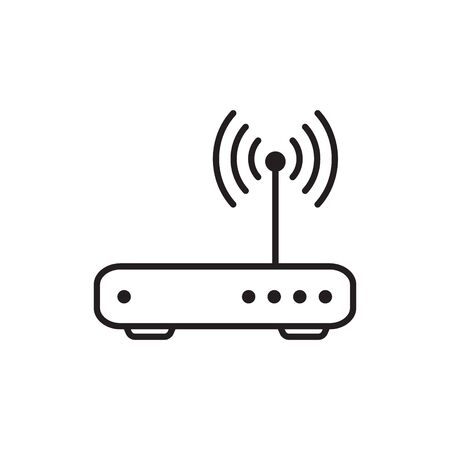 Router related signal line icon isolated