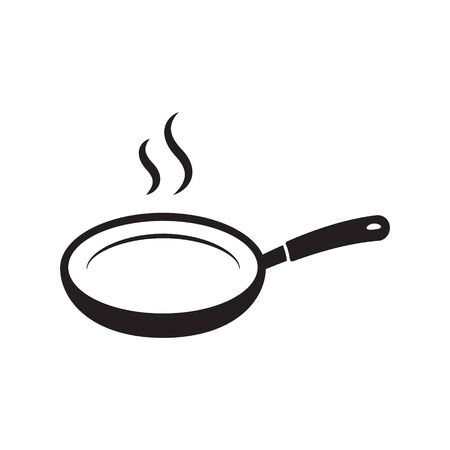 Frying pan vector icon isolated 일러스트