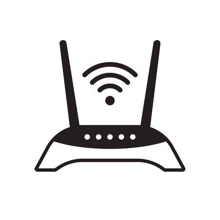 Router-Symbol, Router-bezogenes Signalsymbol isoliert, WLAN-Router Vektorgrafik