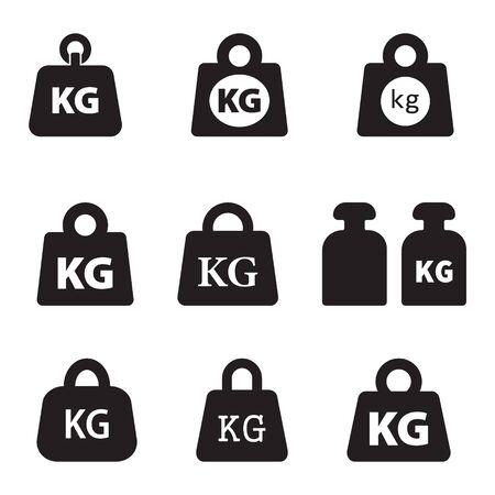 Weight kilogram icon vector isolated Çizim