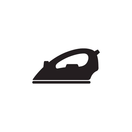 Electric iron flat vector icon