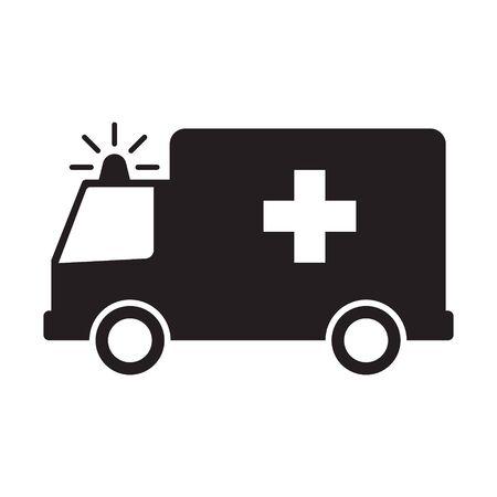 Ambulance icon, Vector Illustration on the white background.