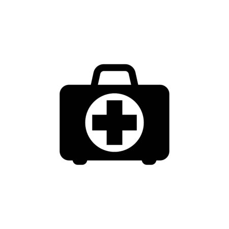First aid box icon, medical briefcase icon vector isolated Иллюстрация