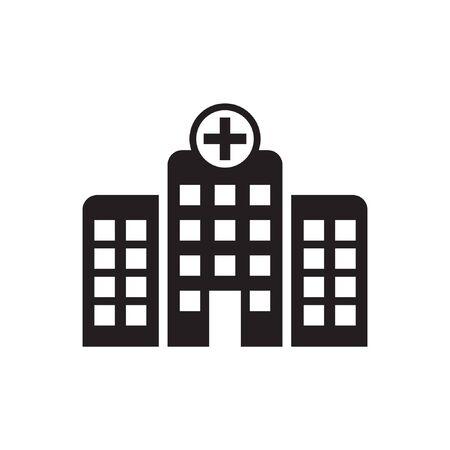 Hospital icon, Hospital building vector icon isolated Иллюстрация