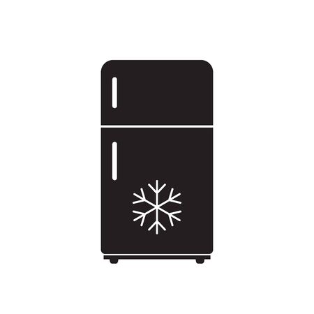 Refrigerator icon isolated on white background. Vector illustration.
