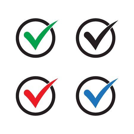 Check mark or checkbox pictogram Иллюстрация