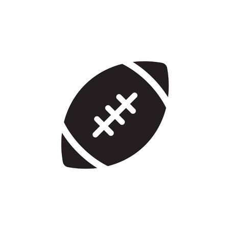 American football ball - vector icon isolated Illustration