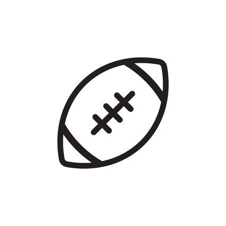 American football ball - vector icon isolated Иллюстрация