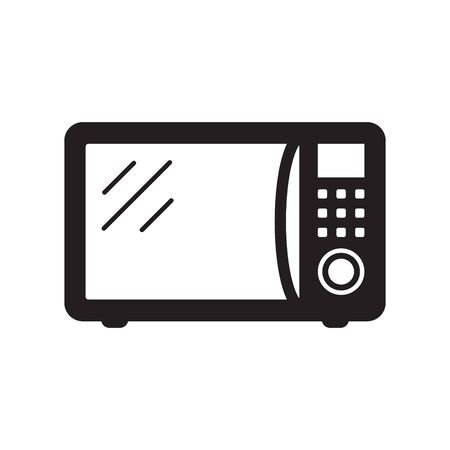 Microwave oven icon isolated on white background. Home appliances icon. Vector illustration.