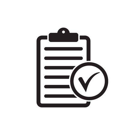 Clipboard, checklist icon vector isolated