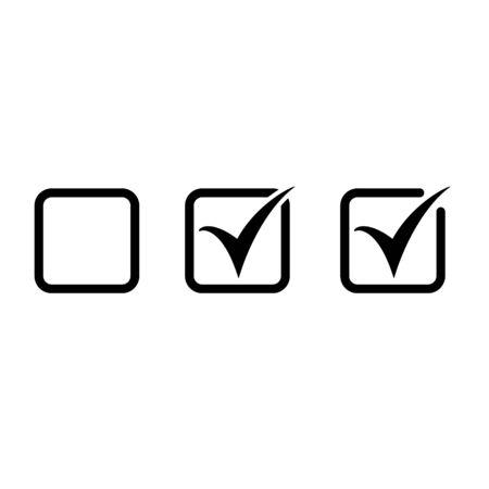 Checkbox set icon checkbox vector icon
