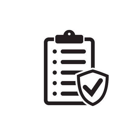 Insurance policy icon, vector icon isolated on white background Иллюстрация