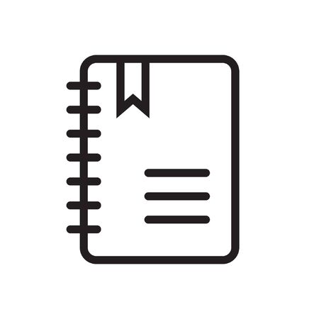 Outline notepad icon, note book icon illustration vector symbol