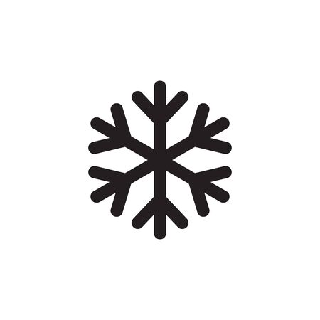 Snowflake icon. snow icon isolated on white background. Symbol of winter, frozen