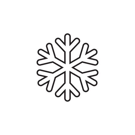 Snowflake line icon. snow icon isolated on white background. Symbol of winter, frozen Иллюстрация