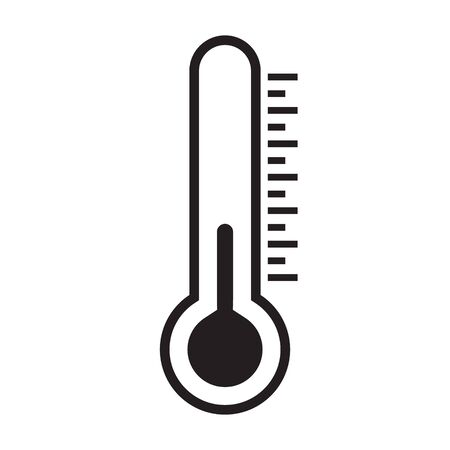Thermometer icon, isolated vector illustration