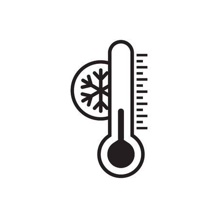 Thermometer cold icon - From forecast, Climate and Meteorology icons, widget icons Иллюстрация