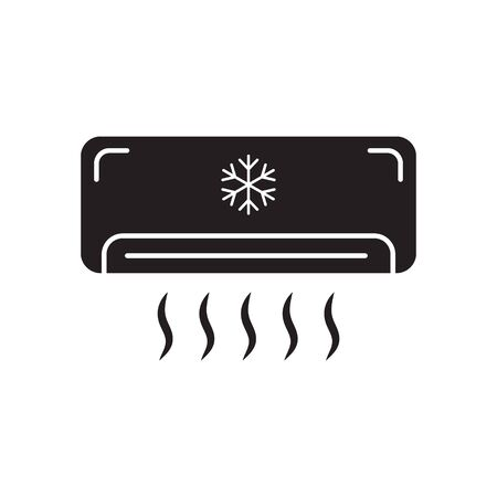 Air conditioner icon vector isolated