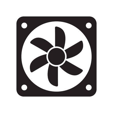 Cooling fan icons. Cool fans vector symbols, electrical air industry signs, electric wind climate industrial propellers with blades Foto de archivo - 135454718